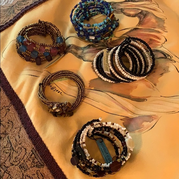 about color Jewelry - Five Beaded Bracelets